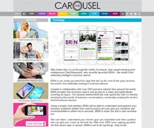 BRiN has been featured in Carousel