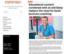 BRiN has been featured in Startup Daily