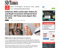 BRiN has been featured in SD Times