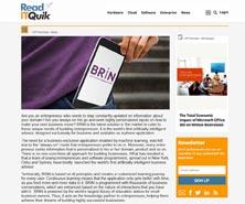 BRiN has been featured in Read IT Quik