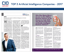 BRiN has been featured in CIO Advisor