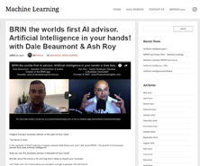 BRiN has been featured in Machine Learning