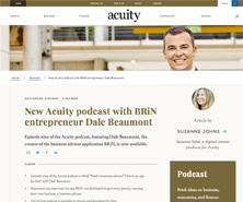 BRiN has been featured in New Acuity